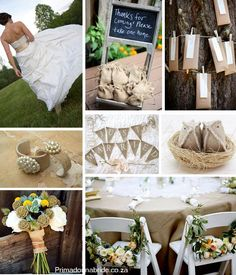 Hessian burlap inspired wedding