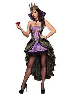 Adult Deluxe Evil Queen Costume | Cheap Fairytale Halloween Costume for Sexy