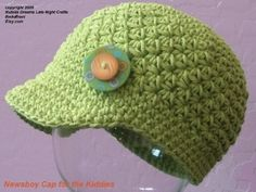 This site is no longer working. I will keep it pinned for idea. Crazy Easy Newsboy Cap for Kids and Adult Crochet Pattern-Cozy Cotton-Fun ...