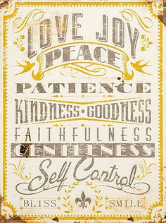 """'Love Joy & Peace' Wall Sign @Heather Craft this reminds me of baby Tonnie and """"love and mercy mama."""""""