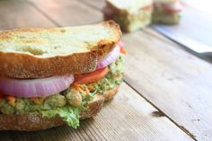 Make this satisfying son of a bitch: Chickpea Pesto Sandwich