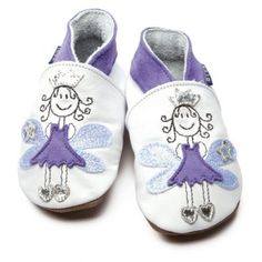 Chaussons cuir souple Fairy Princess INCH BLUE