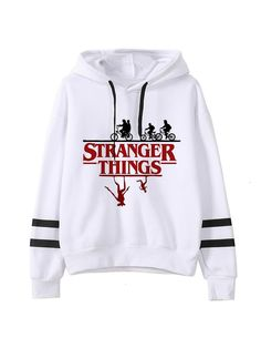 Stranger Things Season 3 Harajuku Eleven Upside Down Funny Hoodie, Style 3030 / XL Stranger Things Hoodie, Stranger Things Season 3, Funny Sweatshirts, Cute Lazy Outfits, Harajuku, Clothes, History Medieval, Haunted History, Sweatpants Outfit