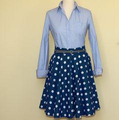 Tmavomodrá s puntíky...sukně   Zboží prodejce Eva France fd47e6c935