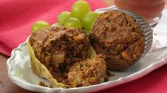 Betty Crocker's Heart Healthy Cookbook shares a recipe! Start your day with these warm muffins made using Fiber One® cereal, packed with the goodness of apples, carrots and flaxseed. A wholesome breakfast!