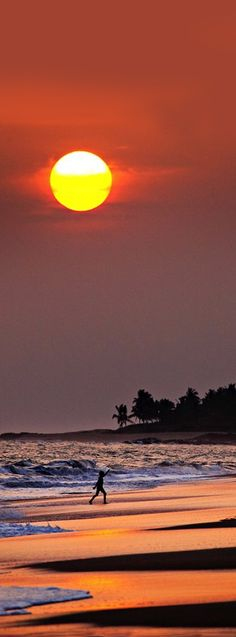 Sunset, Brenu Beach, Cape Coast, Ghana