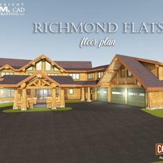 1st Floor Plan –1st Floor Plan – 3225 Sq.Ft. (299.6 Sq. M.) – 3 x car garage, mudroom, linen room, kitchen, 2nd kitchen, dining room, porte cochere, foyer, stairs going upwards, view room, office, bathroom, bedroom 2 with en-suite bathroom, swimming pool with deck, 2 x covered patios. Another gorgeous design😍  #postandbeam #loghomes #handcraftedloghomes #loghomedesign #dreamhouse #westernredcedar #canadianloghomes #naturallypassive