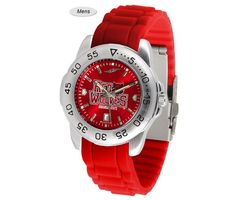 The Sport AnoChrome Arkansas State Red Wolves Watch is available in a Mens style. Showcases the Red Wolves logo. Color-coordinated silicone band Free Shipping. Visit SportsFansPlus.com for Details.
