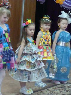 Сделать одежду из подручных материалов для детского праздника
