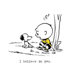 """I believe in you"", Charlie Brown and Snoopy, friends forever❤️ Snoopy Love, Snoopy And Woodstock, Baby Snoopy, Peanuts Cartoon, Peanuts Snoopy, Peanuts Comics, Snoopy Comics, Golden Trio, Snoopy Quotes"