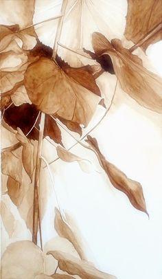 Paintings I Love, Change Is Good, Illustrations, Cute Images, Season Colors, Earth Tones, Mocha, Autumn Leaves, Scenery