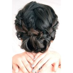 Your Weekend Hairstyle Messy-Chic Buns ❤ liked on Polyvore featuring hair, hairstyles и beauty