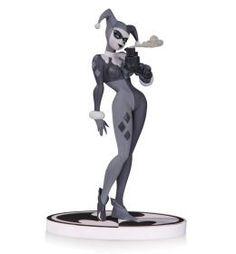 Batman Black & White Statue Harley Quinn Second Edition Statue DC Collectibles - Batman Comic Books, Batman Comics, Comic Book Heroes, Dc Comics, Godfather 1, Shovel Knight, The Big Lebowski, Nightmare On Elm Street, Mega Man