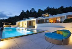 Perched high in the hills above Koh #Samui 's quaint port at Nathon, the ultra-luxurious Lime Samui Villa 2 (Nathon Beach, Koh Samui) offers breathtaking panoramic views of the twinkling seas and offshore #islands .