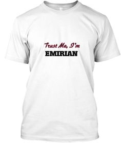 Trust Me, I'm Emirian White T-Shirt Front - This is the perfect gift for someone who loves Emirian. Thank you for visiting my page (Related terms: Emirian,Classic,Retro,Classic United Arab Emirates,I Heart United Arab Emirates,United Arab Emirates ...)