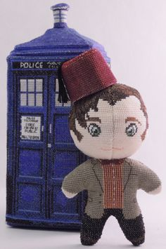 The Eleventh Doctor Who with Fez 3D Cross Stich Doll and Sewing Patter