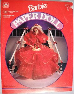 Holiday Barbie Paper Doll Vintage Golden Books Uncut Collectible Ephemera 1993