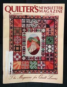 Quilter's Quilters Newsletter Magazine #156 1983 October