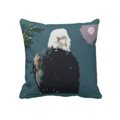 The Essence of Royalty, Bald Eagle Throw pillow