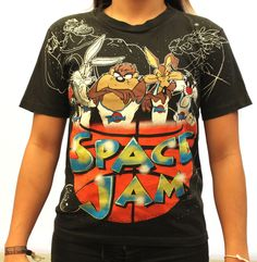 90s Vintage Space Jam Tee Womens Large RARE