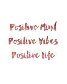 Positive Mind, Positive Thoughts, Positive Life. Each print is professionally…