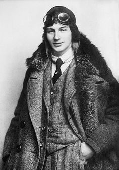 "Anthony Fokker, age 22, 1912.  My favorite WWI ace ""Knight of the Air"" and a freaking genius besides! He was dutch, the inventor of the Eindecker monoplane, the Fokker triplane and D.VII, developed the interrupter gear (HELLO major innovation used even today)"