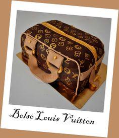 Virginias Cake: TARTA BOLSO LOUIS VUITTON http://www.virginiascake.com/portfolio-items/tarta-bolso-louis-vuitton/