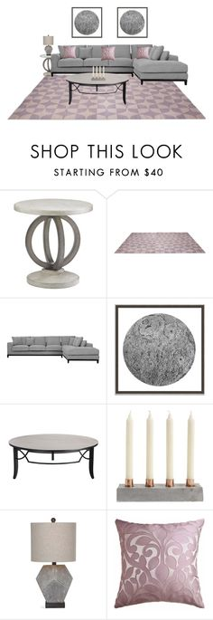 """""""Untitled #719"""" by angela-vitello on Polyvore featuring interior, interiors, interior design, home, home decor, interior decorating, Wendover Art Group, Delfina and Wallace"""