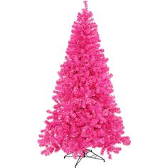 Vickerman 3' Hot Pink Pine Tree Artificial Christmas Tree with 50... ($59) ❤ liked on Polyvore featuring home, home decor, holiday decorations, holiday home decor and holiday decor