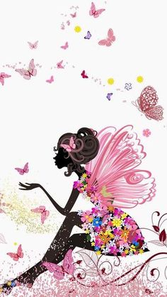 Discovered by Lisy De Los Santos. Find images and videos about girl and pink on We Heart It - the app to get lost in what you love. Iphone Background Disney, Disney Phone Wallpaper, Background S, Iphone Wallpaper, Fairy Wallpaper, Mobile Wallpaper, Spring Wallpaper, Watercolor Illustration, Watercolor Art