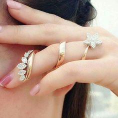 Diamond Spiral flower full finger ring. Yes or No? Double tap if you like it…