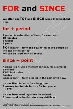 Estudia inglés en Irlanda- For and since / Present perfect
