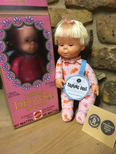 DROWSY DOLL/BOX/TAGS. VERY RARE PINK KITTY CAT PJ'S CLEAN/TALKS in Dolls & Bears, Dolls, By Brand, Company, Character | eBay