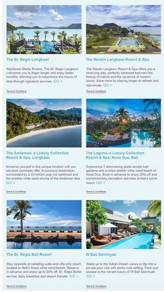 New Offers and Deals: 30% Off Starwood Hotels in Southeast Asia  BOOK NOW  Book early to enjoy up to 30% on stays at some of our stunning beach resorts.  SPG members earn an additional 5% off. Enroll now its time to get your feet wet.  Terms & Conditions  Offer is valid at participating Starwood Hotels & Resorts in Indonesia Malaysia and Singapore. Please refer to participating property list.  Offer is valid for stays booked between nowand 31December 2017 and completed between nowand…