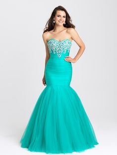 Madison James - Dress in Teal Long Formal Gowns, Long Prom Gowns, Long Evening Gowns, Formal Evening Dresses, Strapless Dress Formal, Dress Long, Teal Prom Dresses, Mermaid Prom Dresses, Dance Dresses