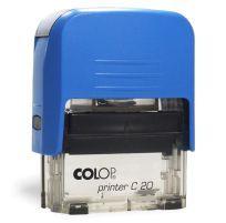 Carimbo auto entintado Colop C20 – 14×38 mm Azul com fumê