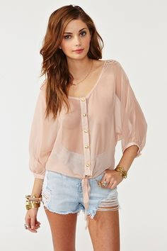 love sheer shirts for summer
