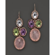 Ippolita Rosé Sugar Kissed Cascade Earrings In Orchid ($1,095) ❤ liked on Polyvore