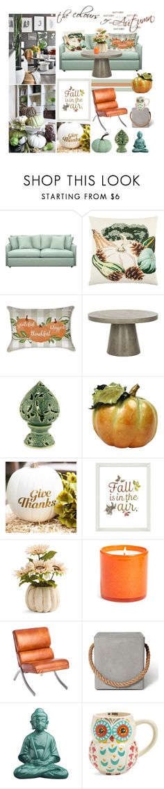 """The colors of autumn"" by noconfessions ❤ liked on Polyvore featuring interior, interiors, interior design, home, home decor, interior decorating, Crate and Barrel, Safavieh, NOVICA and Pottery Barn"