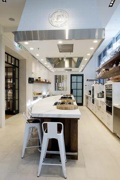 Williams Sonoma Cooking School, Sydney © Natasha Calhoun via beautifully, suddenly  Cooking classroom for middle school age kids