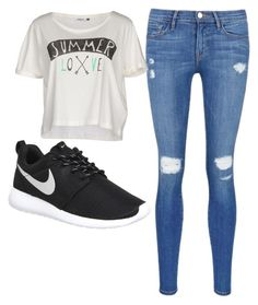"""""""casual"""" by tia12502 on Polyvore featuring Frame Denim, ONLY, NIKE, women's clothing, women, female, woman, misses and juniors"""