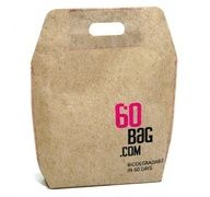 60Bag.com makes a bag out of natural waste product that can decompose completely after 60 days. This completely biodegradable container uses absolutely no natural resources to produce. They make shopping bags as well as totes.