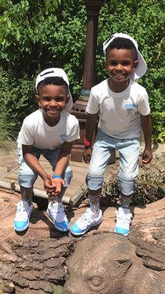 Black Baby Boys, Cute Black Babies, Beautiful Black Babies, Cute Twins, Big Boys, Baby Boy Swag, Kid Swag, Cute Baby Boy, Cute Kids Fashion