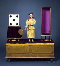 Henry Phalibois Automaton of a Chinese Magician and Vanishing Assistant, c. 1920