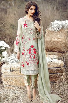 Shop Green Georgette Party Wear Wear Pakistani Suit Online : Fepic Cash On Delivery In India, Pakistani Suits Wholesaler & Exporters Pakistani Salwar Kameez, Pakistani Suits, Pakistani Dresses, Indian Dresses, Indian Outfits, Patiala, Indian Anarkali, Pakistani Designer Suits, Eid Outfits