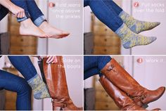 How to distress your jeans, take in the waist, fix a zipper and other essential DIY denim hacks Fashion Shoes, Fashion Outfits, Womens Fashion, Fashion Trends, Folding Jeans, Fix A Zipper, Hair Tuck, Rolled Jeans, Scarf Hairstyles