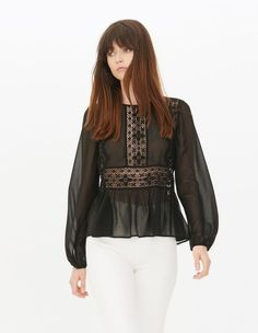 Welcome to the official Sandro Eshop - Women and Men 2020 Spring/Summer Collection Feminine Style, Signature Style, Winter Collection, Cool Hairstyles, Fall Winter, Bell Sleeve Top, Shirts, Sandro Paris, Outfits