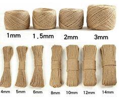 LanLan Handmade Jute Rope DIY Vintage Rope Decoration: Rope 100 Meters 1 Volumes of Yellow Soil Diy Home Crafts, Diy Crafts To Sell, Deco Tape, Twine Crafts, Jute Twine, Macrame Patterns, Sisal, Basket Weaving, Rope Basket