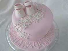 beautiful baby shower cake for girl