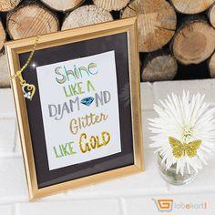 Shine like a Diamond ♥ Glitter like Gold #JewelleryQuotes #Globekart #DiamondJewellery #GoldDesign